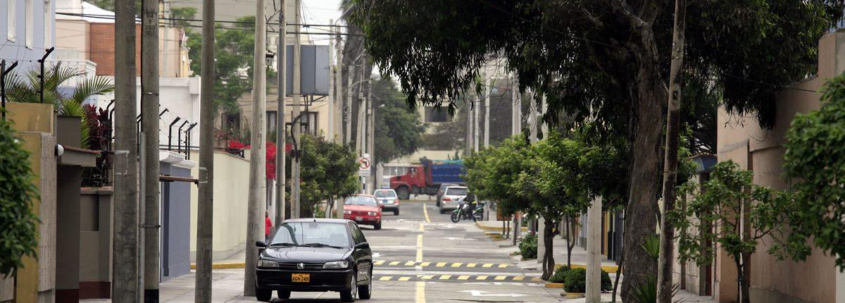 Straße in Miraflores Peru