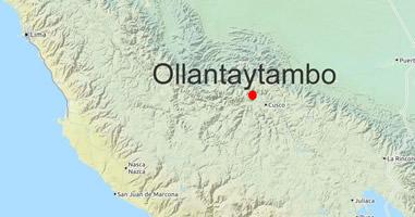 Karte Anreise Ollantaytambo