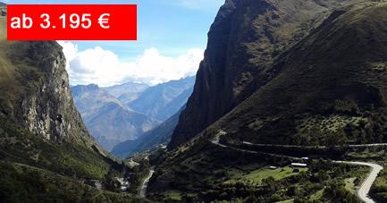 Reiseangebot Wanderungen in den Anden und Radfahren in Lima
