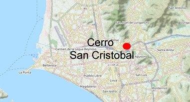 Cerro San Cristobal Karte