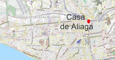 Karte Anreise Casa de Aliaga