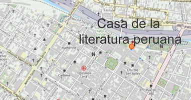Karte Anreise Casa de la literatura peruana