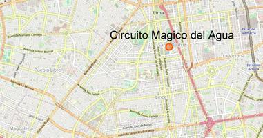 Karte Anreise Circuito Magico del Agua