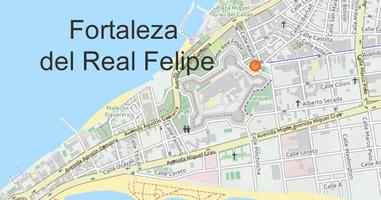 Karte Anreise Fortaleza del Real Felipe Lima Callao Peru