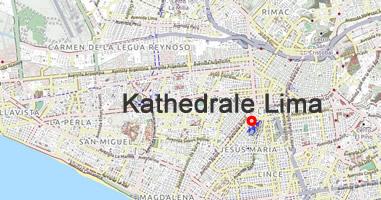 Karte Anreise Kathedrale Lima