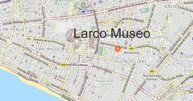 Karte Anreise Larco Museo