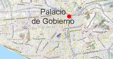 Karte Anreise Palacio de Gobierno