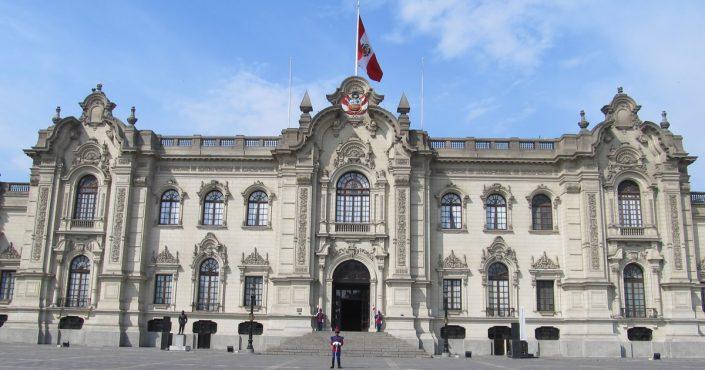 Der Palacio de Gobierno del Perú in Lima Regierungspalast