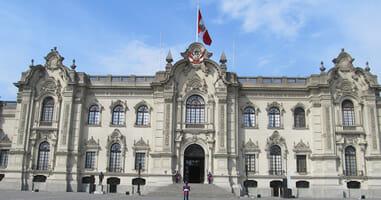 Palacio de Gobierno del Peru Regierungspalast Lima Peru