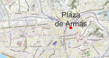 Plaza de Armas Peru Lima Karte