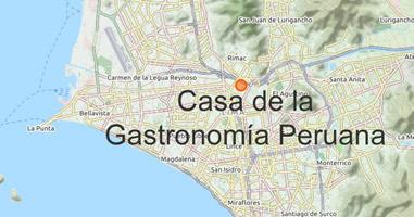 Karte Anreise Casa de la Gastronomía Peruana