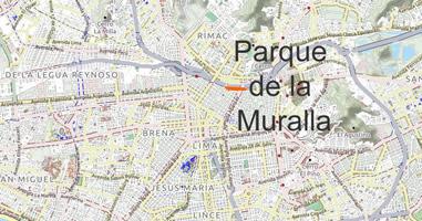 Karte Anreise Parque de la Muralla