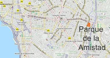Karte Anreise Parque de la amistad