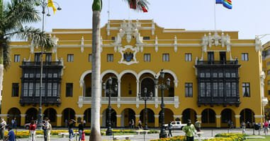 Stadtpalast an der Plaza Mayor in Lima