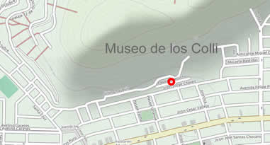 Anreise Karte Museo de los Colli