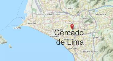 Cercado de Lima Karte