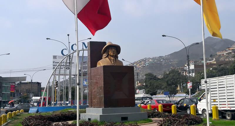 Comas Stadtteil in Lima Peru