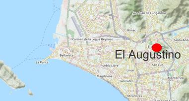 El Agustino Lima Peru Karte