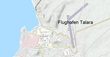 Karte Aeropuerto Internacional Capitán FAP Víctor Montes Arias