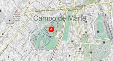 Karte Anreise Campo de Marte