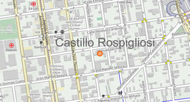 Karte Anreise Castillo Rospigliosi