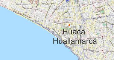 Karte Huaca Huallamarca