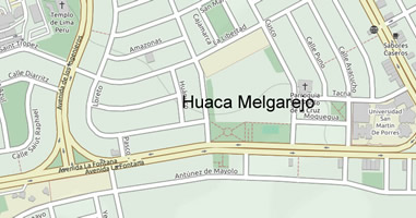 Karte Anreise Huaca Melgarejo