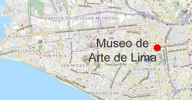 Karte MALI – Museo de Arte de Lima