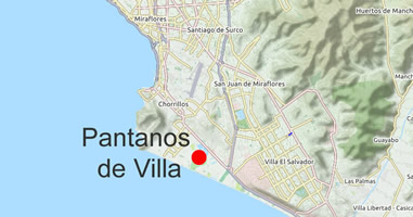 Karte Pantanos de Villa Chorrillos
