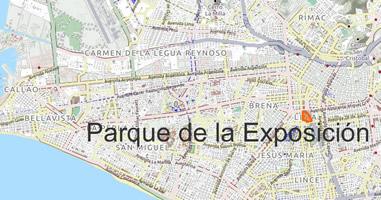 Karte Parque de la Exposición