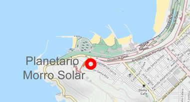 Karte Anreise Planetario Morro Solar
