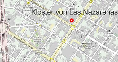 Karte Santuario Nacional y Monasterio de Las Nazarenas