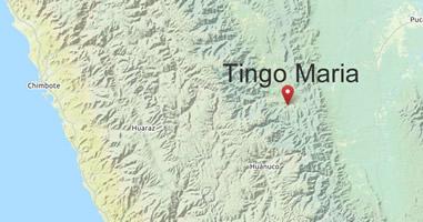 Karte Tingo Maria in Peru