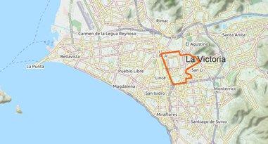 La Victoria in Lima Karte Anreise