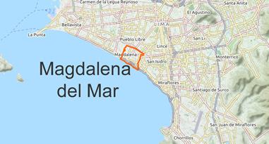 Magdalena del Mar Karte