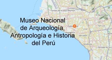 Museo Nacional de Arqueología Antropología e Historia del Perú Karte