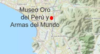 Museo Oro del Perú y Armas del Mundo Karte