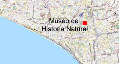 Museo de Historia Natural Karte