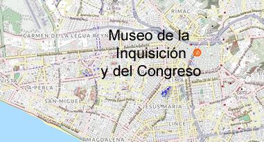 Museo de la Inquisición y del Congreso Karte
