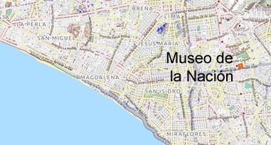 Museo de la Nacion Karte