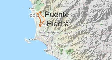 Karte Puente Piedra