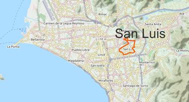 San Luis Karte