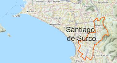 Santiago de Surco Karte