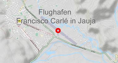 Karte Peru Francisco Carlé Airport Jauja