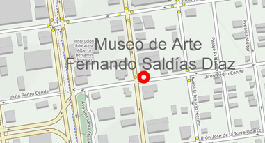 Museo de Arte Fernando Saldías Díaz Karte