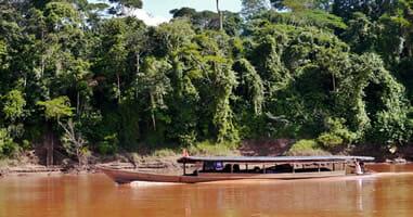 Amazonaszufluss Tambopata im peruanischen Dschungel