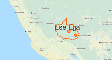Ese Ejja Karte Lebensraum Peru