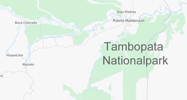 Nationalpark Tambopata Karte