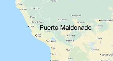 Puerto Maldonado Peru Karte