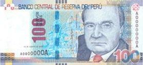 100 Soles Geldschein Peru